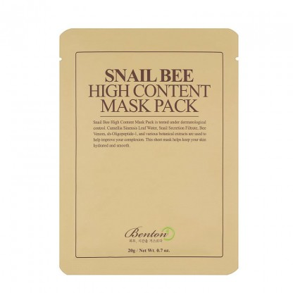Benton Snail Bee High Content Mask - The K Beauty