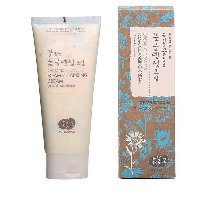 Whamisa Organic Flowers Foam Cleansing Cream - The K Beauty