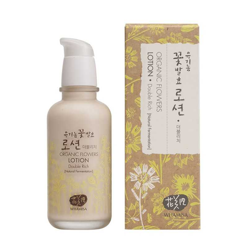 Whamisa Organic Flowers Lotion Double Rich - The K Beauty