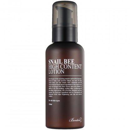Benton Snail Bee High Content Lotion crema viso fluida alla bava di lumaca The K Beauty