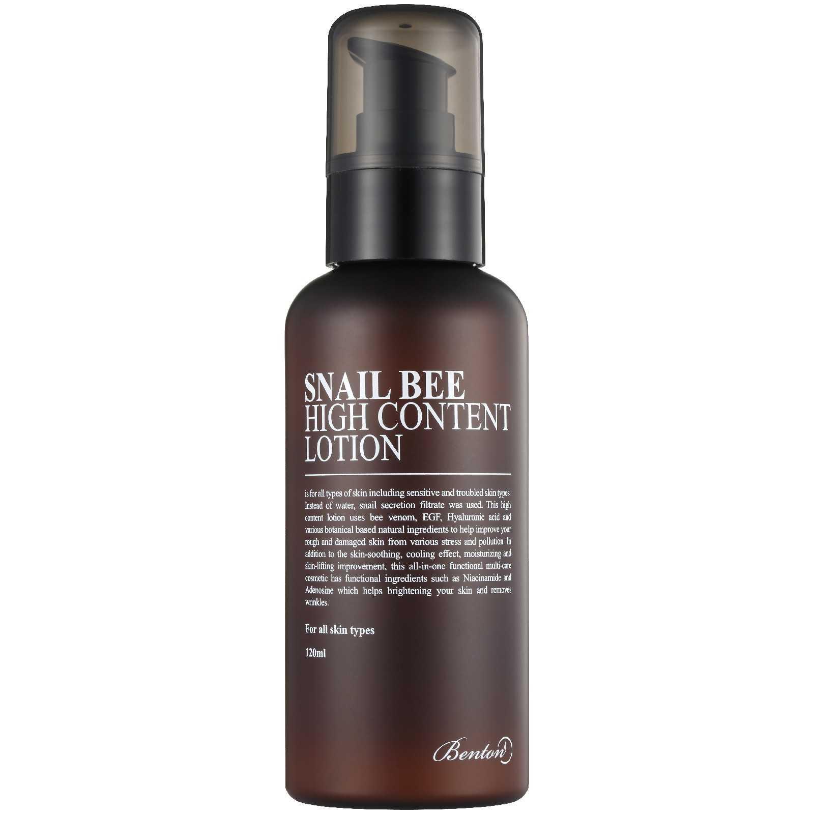 Benton Snail Bee High Content Lotion crema viso fluida alla bava di lumaca The K Beauty