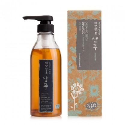 Whamisa Organic Seeds Shampoo for Oily Scalp capelli grassi The K Beauty