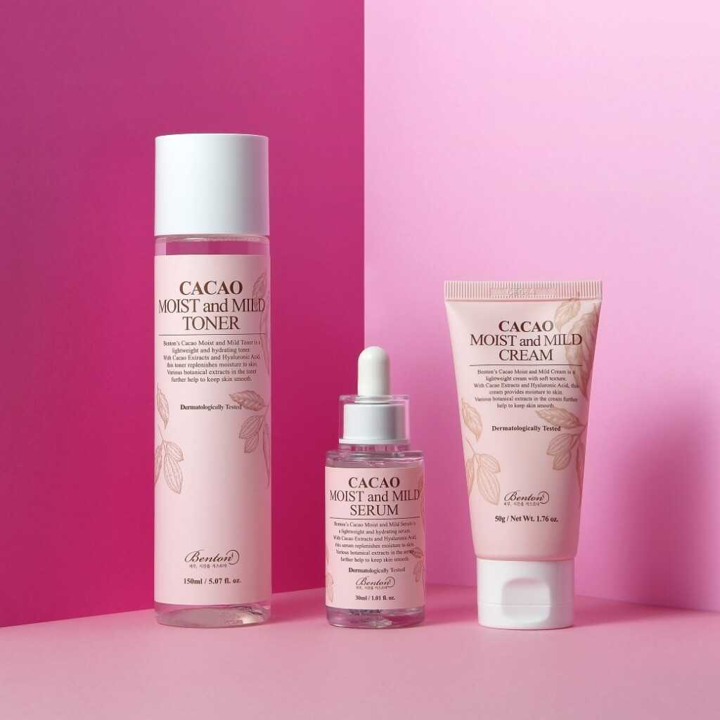Benton Cacao Line Promo tonico siero e crema The K Beauty
