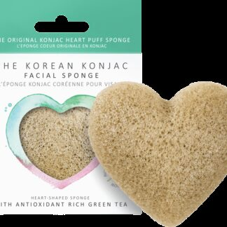 Konjac Heart Sponge Green Tea