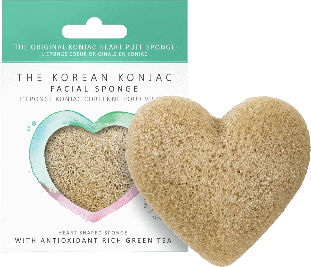 Konjac Heart Sponge Green Tea