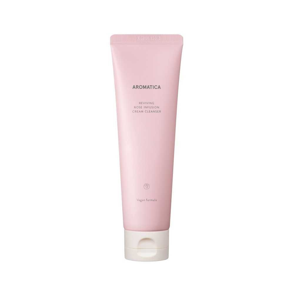 Aromatica Reviving Rose Cream Cleanser detergente viso delicato