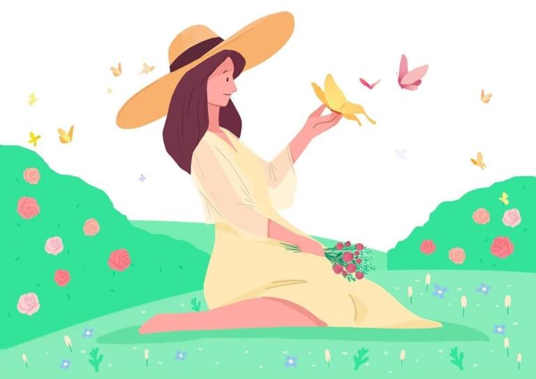 Organic Rose Mist Urang illustrazione