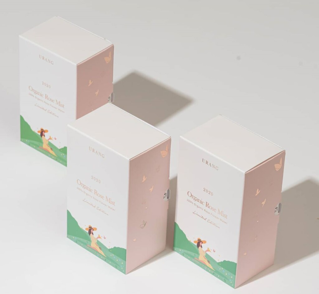 Organic Rose Mist Urang il packaging