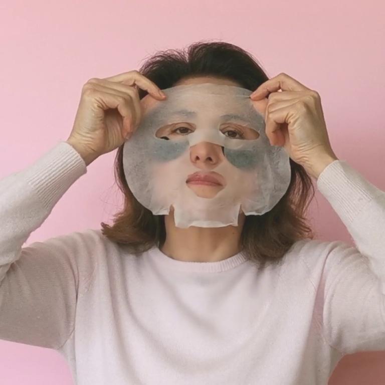 Maschera in tessuto coreana il double masking biologico