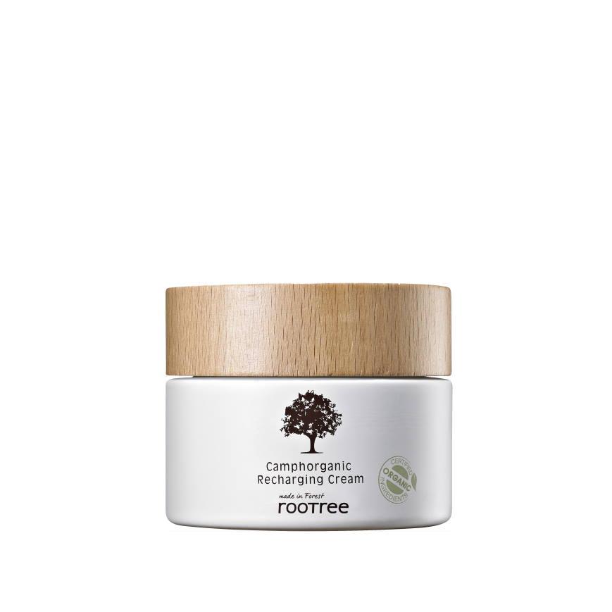 rootree Camphorganic Recharging Cream crema viso biologica
